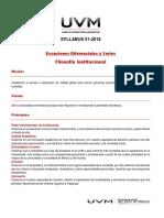 Syllabus (Ecuaciones Diferenciales y Series)