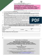 Ficha Unica de Inscripciones Ordinarias 2019 - PARA CORREO POSTAL