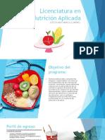 Licenciatura en Nutrición Aplicada