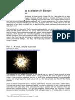 Blender 3D Explosion Tut