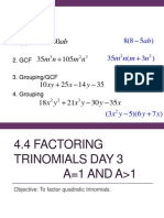4.4 Factoring Trinomials Day 3