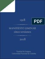 Manifiesto Liminar Cinco Versiones