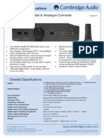 DacMagic Plus Technical Specifications