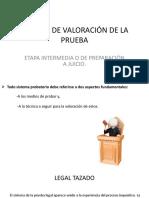 11a Clase de Derecho Procesal Penal (Sistema de Valoración de La Prueba).