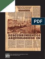 Ibarra Grasso de Sa Descubrimientos Arqueologicos en Potosi