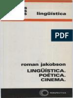 Roman Jakobson Linguistica, Poética e Cinema.