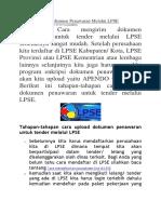 Cara Mengirim Dokumen Penawaran Melalui LPSE.docx