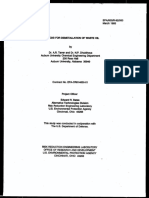 métodos de desmetalización de aceite usado