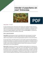 Fraser (2018) Podemos entender el populismo sin llamarlo fascista. Entrevista.pdf
