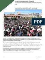 Servindi - Servicios de Comunicacion Intercultural - El Quotaymarazoquot Un Caso de Criminalizacion de La Protesta - 2016-10-08
