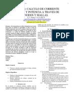 Calculo de corriente y voltaje mediante anlisis nodal y de mallas. Calculation of current and voltage by nodal and loop analysis,