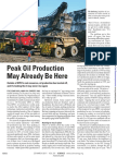 Peak Oil Production May Already Be Here ( Kerr 2011) Journal of Science