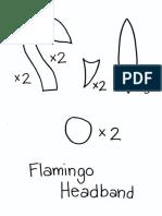 Flamingo Headband Template