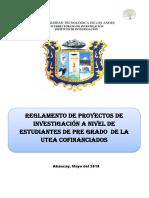 Reglamento de Concurso de Proyectos de Investigación Estudiantes 2018 (1)