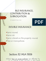 Double Insurance, Contribution Subrogation (1)