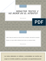 Cómo Redactar Textos y No Morir en El Intento
