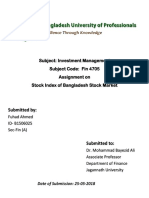 Stock Index of Bangladesh Stock Market