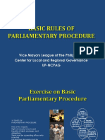 1. GONZALES Basic Rules of Parliamentary Procedure