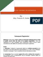 Actions After Original Registration