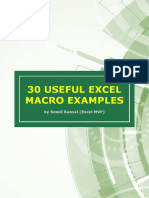 30 Useful Excel Macro Examples