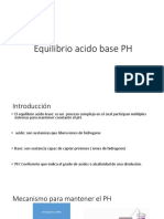 Equilibrio Acido Base PH