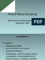 2 - Arterial Blood Sampling