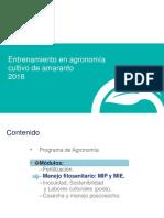 2018_AMARANTO_Manejo Fitosanitario MIP y MIE