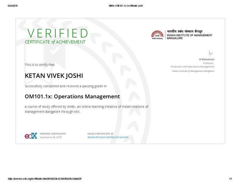 online Edx course certificate