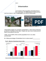 Urbanisation Worksheets