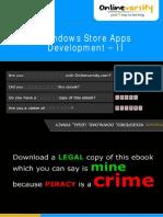 Windows Store Apps Development-II_INTL aptech