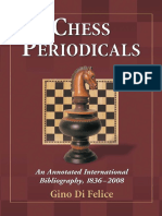 Chess Periodicals an Annotated International Bibliography, 1836-2008
