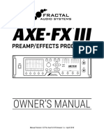Axe Fx III Owners Manual