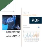 Forecasting - Assignment1