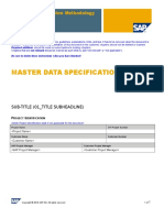 ZBMD Master Data Specification TEMPLATE
