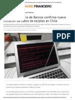 Superintendencia de Bancos confirma nueva filtración de datos de tarjetas en Chile - Diario Financiero