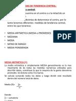 2.-Medidas de Tendencia Central y Dispersión