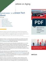 Alzheimer's Disease Fact Sheet