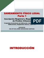 Curso Saneamiento Fisico Legal 1 Agosto 2017