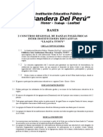 Bases Del Concurso Bandera Del Peru