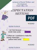 Expectation Setting