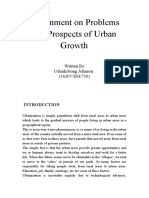 Prospects and problems of urban development