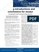 Writing Introductions and Conclusions for Essays Update 051112