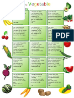 vegetables and fruits for elementary