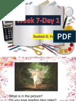 English Week 7 Day 1-5