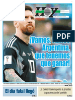 La Esperanza argentina en el Mundial Del Rusia 2018