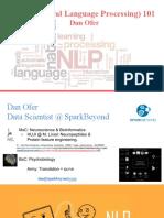 NLP 101 - Machine Learning Seminar 2017