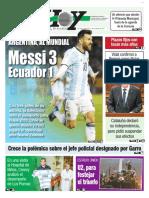 Messi Clasifica a La Selección Argentina en Ecuador para el mundial de Rusia