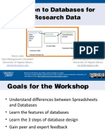 Intro to Databases for Managing Research Data Oct2013