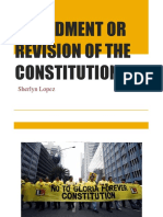 Amendment or Revision of the Constitution