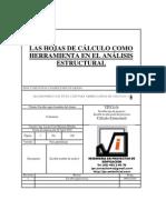 HOJAS DE CÁLCULO COMO HERRAMIENTAS DE ANÁLISIS ESTRUCTURAL
